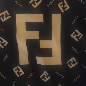 Authentic silk fendi scarf!!! Great condition!!!!